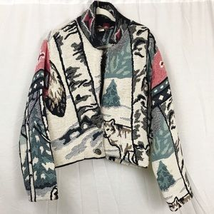 VINTAGE Southwest Woven Blanket Jacket | One Size